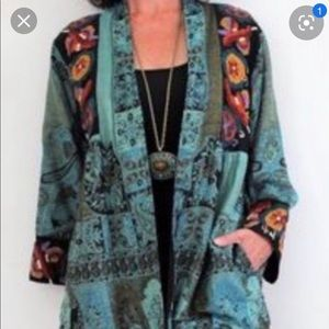 SOFT SURROUNDINGS ISTANBUL EMBROIDERY JACKET